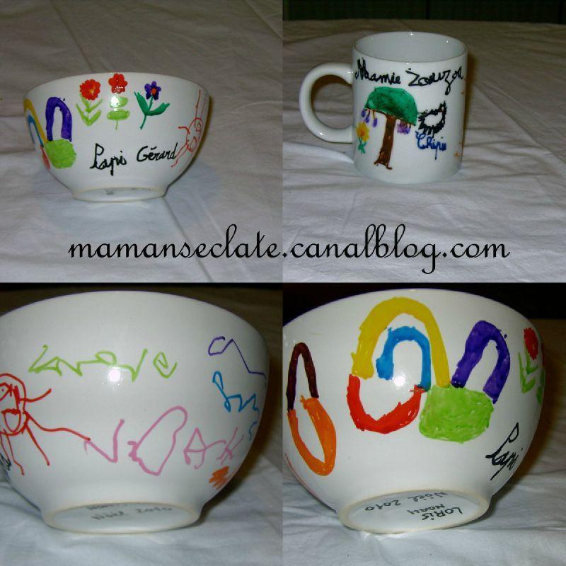 Cadeau fait maison personnalisation de tasse et bol for Accouchement difficile a la maison