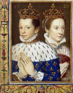 François II et Marie Stuart dans le livre d'heures de Catherine de Médicis, BnF