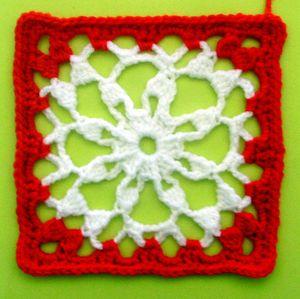 200 carrés crochet Flocon de neige