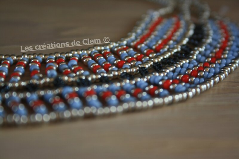 plastron - parure _ perles de rocaille - tissage - collier - beads weaving - necklace (3)
