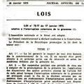 Loi relative à l'interruption volontaire de la grossesse en 1975