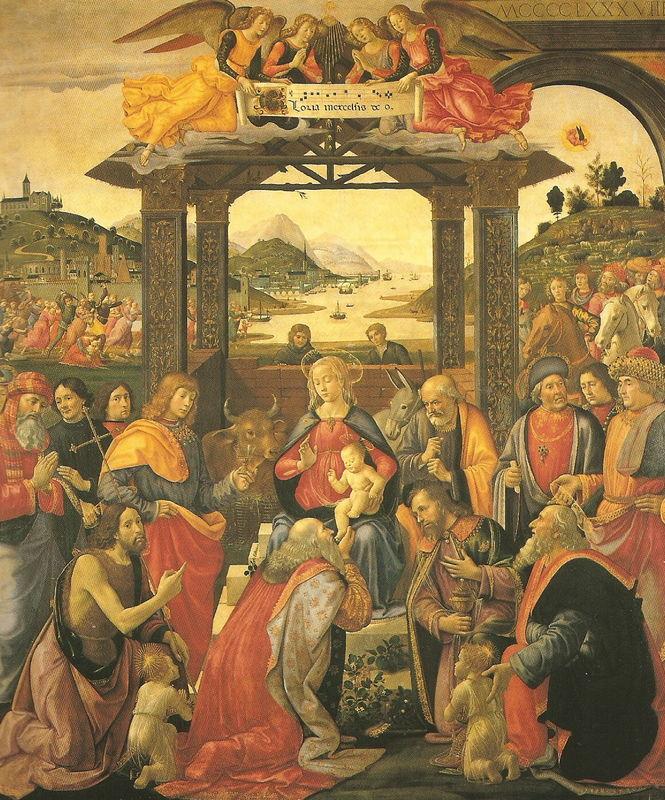 GHIRLANDAIO - Adoration des Mages et massacre des Innocents - FLORENCE - Hopital des Innocents
