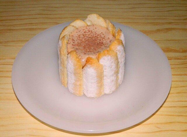 Mini charlotte mousse pâte à tartiner maison