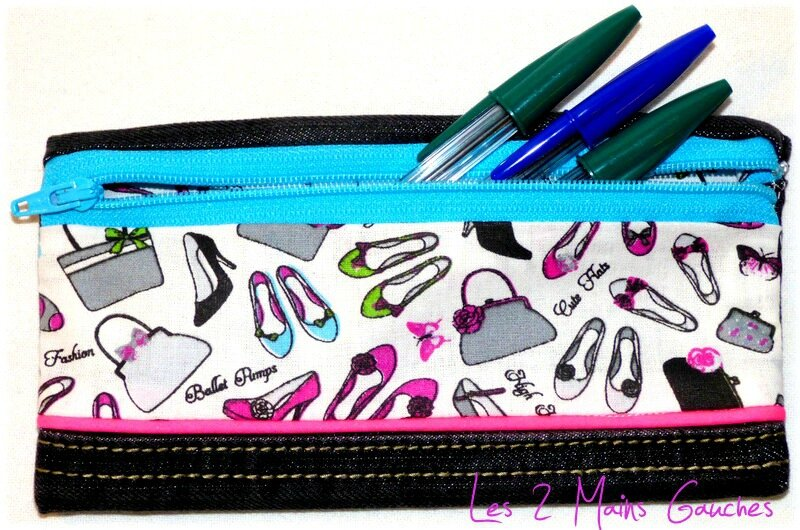 mini-trousse jean fashion addict