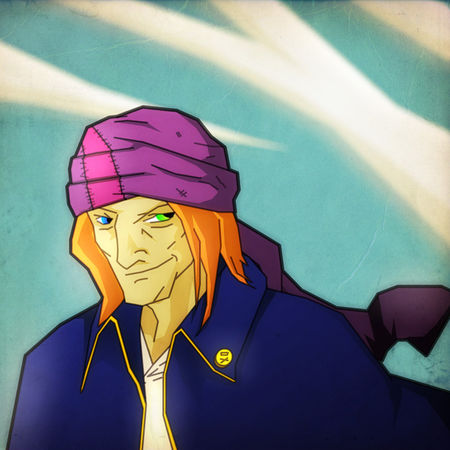 illustration portrait de pirate