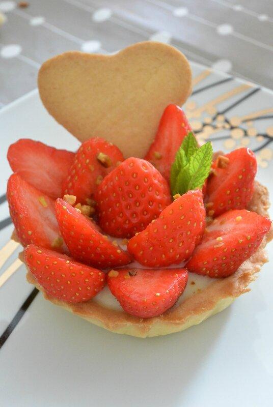 tarte aux fraises individuelles