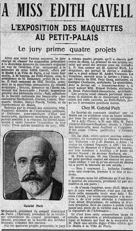 Cavell Pech Le matin 4 1916
