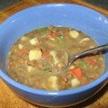 Soupe aux légumes et lentilles
