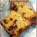 Cake pommes raisins cranberries aux petits suisses (sans beurre)