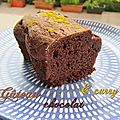 Gâteau au chocolat et au curry