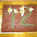 Gâteau aux narcisses