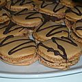 Macarons ganache chocolat 
