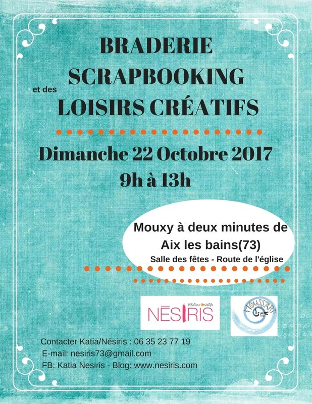 Braderie Scrapbooking dimanche 22 octobre 2017