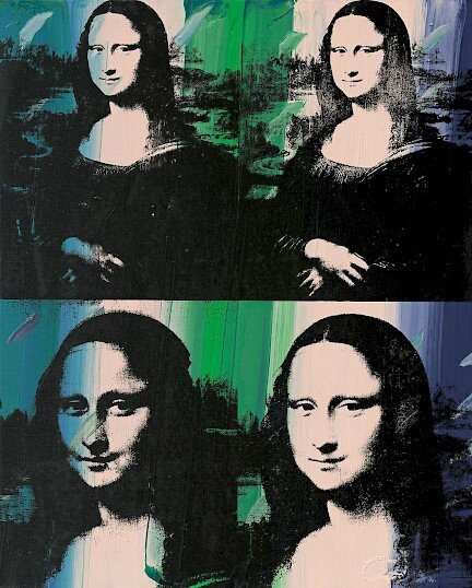 """andy warhols mona lisa essay The painting, """"mona lisa"""", by leonardo, the theme of the harmony between humanity and nature is established through his depiction of mona lisa and the use."""