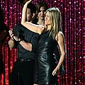 Jennifer Aniston leather minidress 219