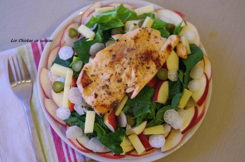 Salade d'épinards et saumon (1)