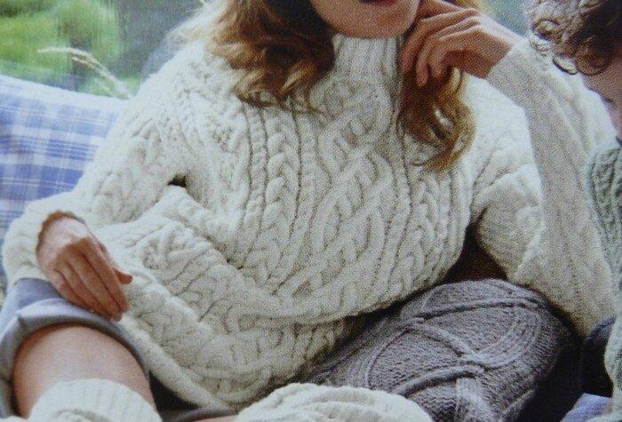 Un pull irlandais plein de torsades catbout tissus le blog - Site de laine pas cher ...