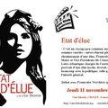 Cholet : ciné-club - etat d'élue le jeudi 11 novembre 2010