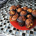 Petits gâteaux chocolat rhubarbe