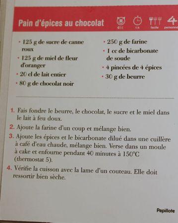 recette pain d'épices au chocolat blog chez requia