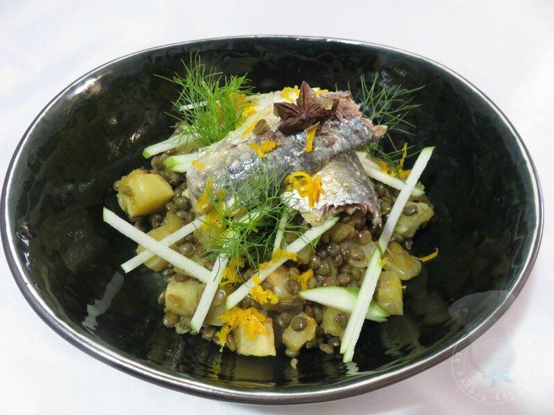 Salade de lentilles, fenouil et orange