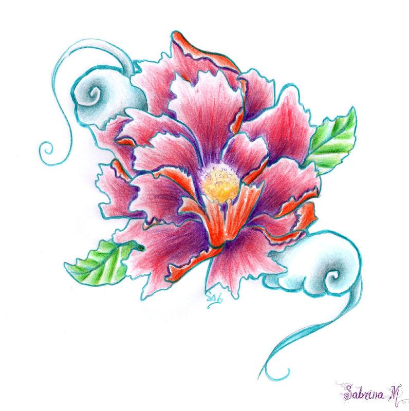 Fleurs japonaises dessin - Fleur en dessin ...