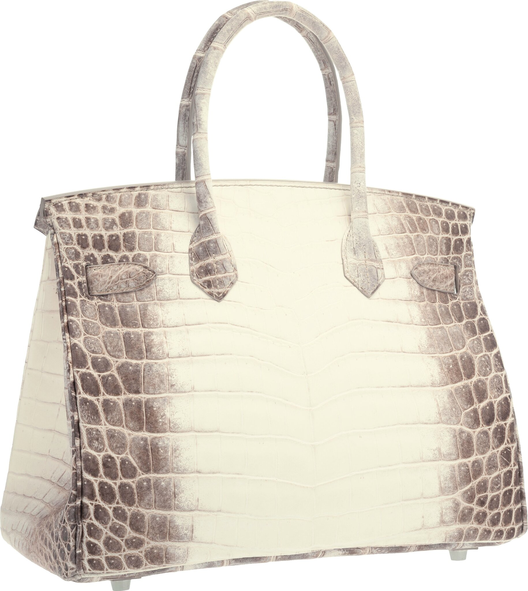 e02346899630 Hermès 30cm Matte White Himalayan Nilo Crocodile Birkin Bag with Palladium  Hardware. Estimate   80