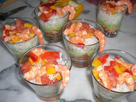 Verrines aux crevettes recettes by chouchou for Entree froide legere