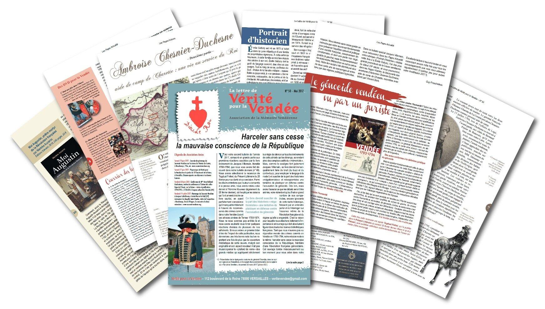 Génocide vendéen : Jacques Villemain fait toujours l'actualité de Vérité pour la Vendée