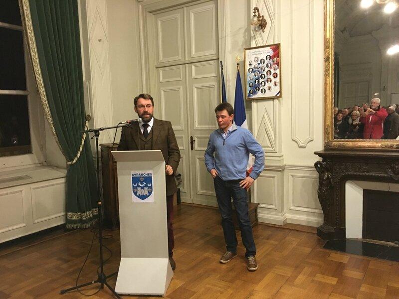 Franck Nivard David Nicolas Avranches Prix d'Amérique 2016 cérémonie mairie Hôtel de ville réception