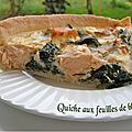 Quiche aux feuilles de blettes, saumon et feta