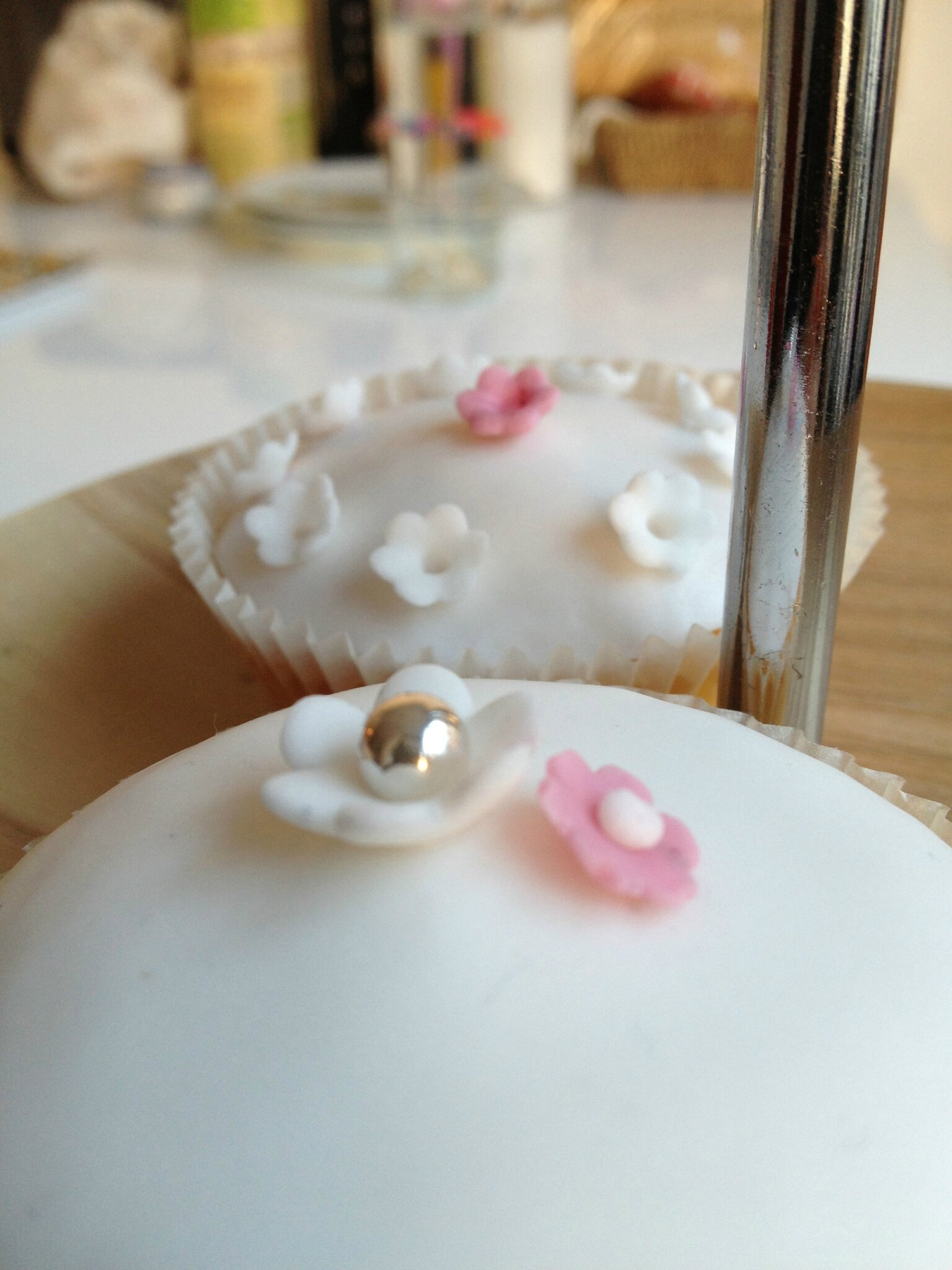Du blanc pour des cupcakes girly...