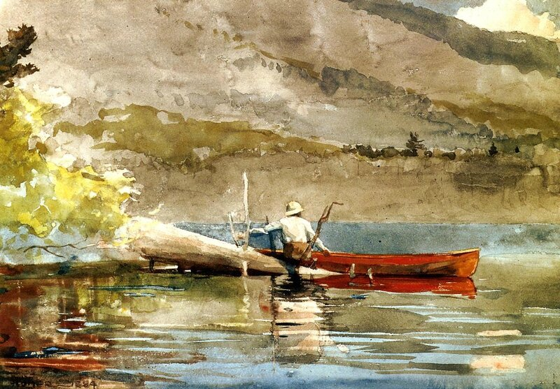 the-red-canoe-1884 WINSLOW HOMER