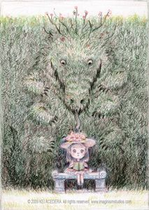 710x1000_2819_Hedge_Monster_2d_illustration_little_girl_creatures_monster_child_picture_image_digital_art