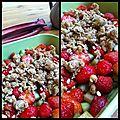 Ceci n'est pas un fruit - crumble rhubarbe-fraise