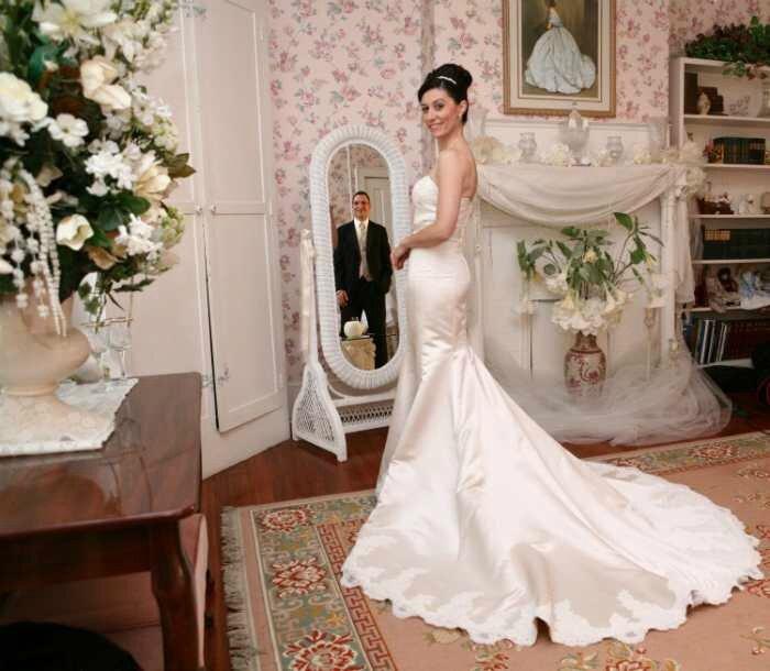 nouveaux Mariés dans le Miroir