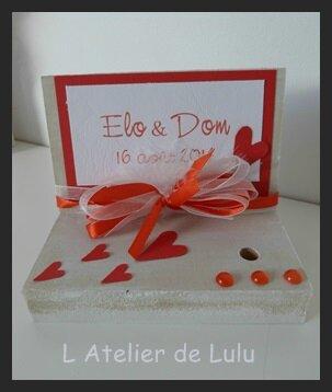 porte stylo mariage rouge et coeurs