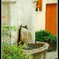 Fontaines et lavoir à saint-martin vésubie dans les alpes-maritimes