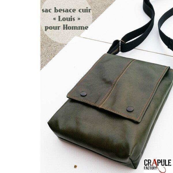 sac-besace-cuir-de-createur-pour-homme-vert-surpiqures-orange-chic-for-man2
