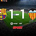 But suarez barcelone vs valence (1-1)