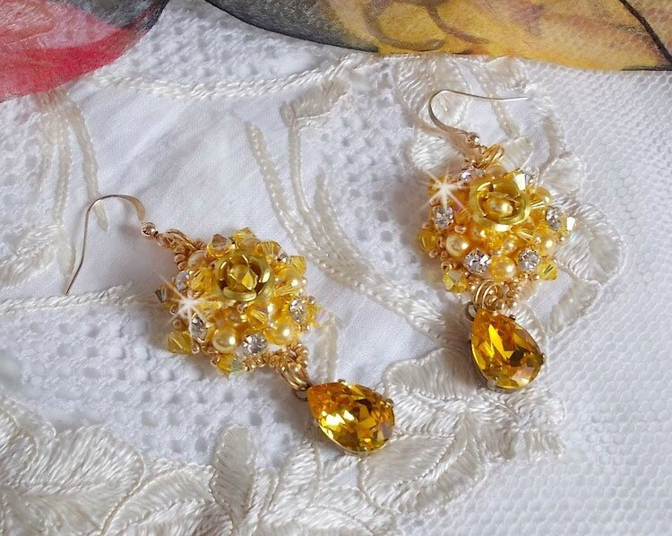 Boucles d'oreilles Sunflower Gold