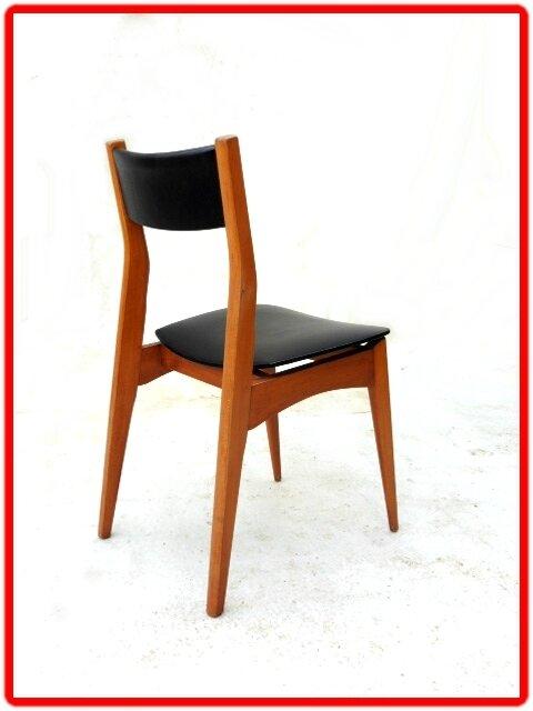 chaises vintage scandinave 1960