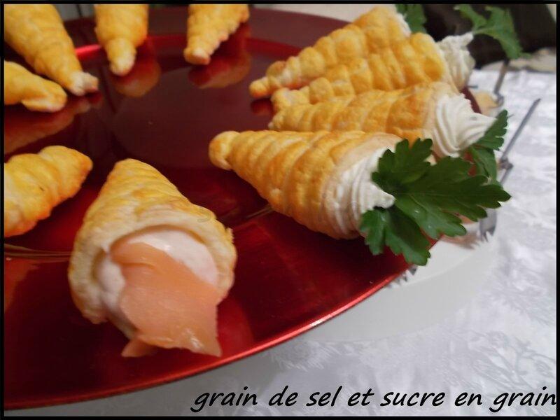 cornet à la mousse de saumon (2)