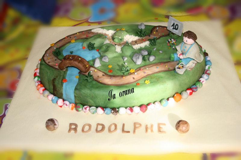 Gâteau parcours de billes/Trail ball cake