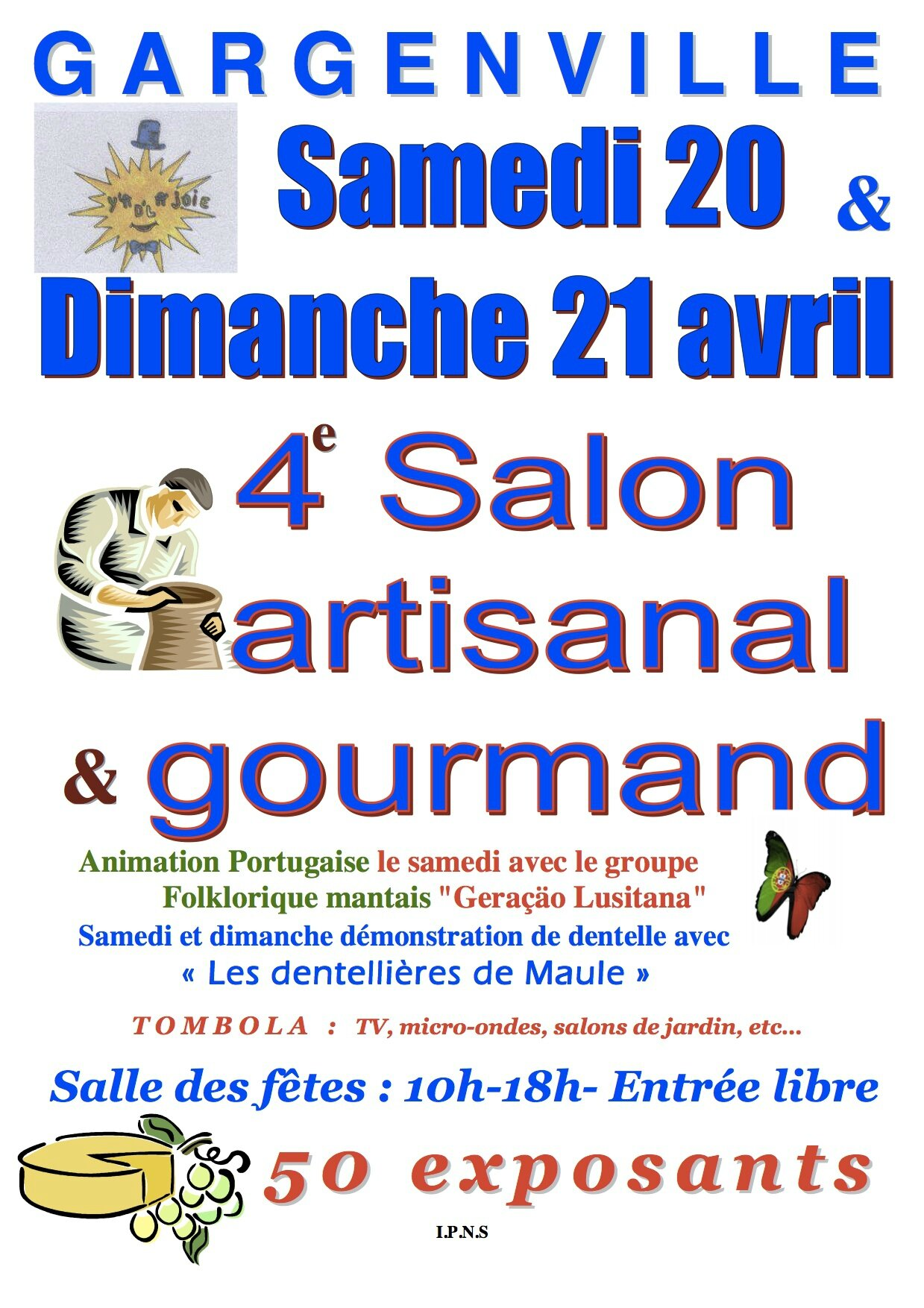 Salon artisanal et gourmand de gargenville 78 une for Salon artisanal