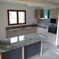 Pose du granit dans notre cuisine sagne cuisines