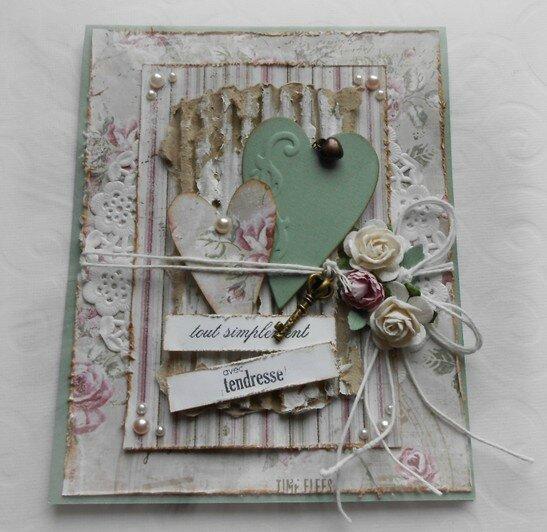 000 AMITIE DE Creaclaudine pour obonheurduscrap B carte magnolia