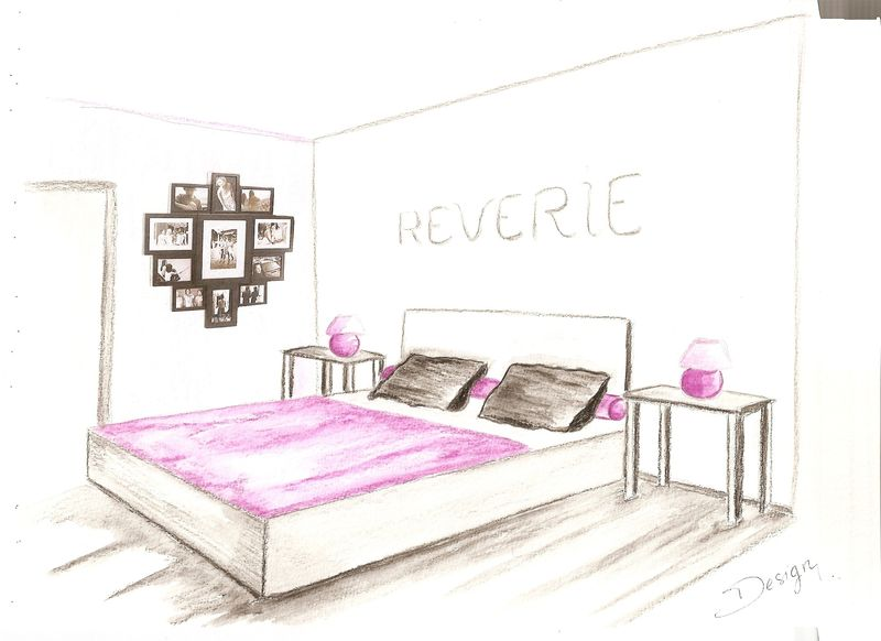dessin de chambre. Black Bedroom Furniture Sets. Home Design Ideas