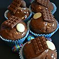 Cupcakes tout chocolat au lait