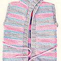 Création au #tricot : peignoir pour bébé